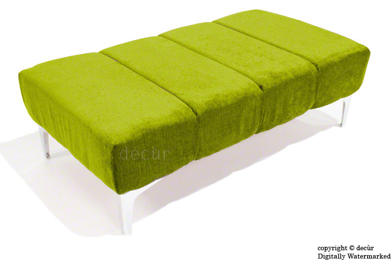 Abi Footstool - Olive Green with Optional Storage