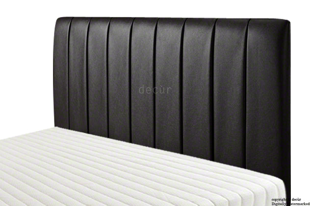 Columbia Faux Leather Headboard - Black