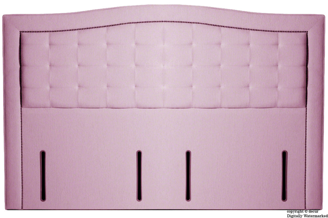 Paris Buttoned Chenille Headboard - Pink