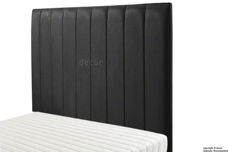 Petra Velvet Headboard - Cosmic Black