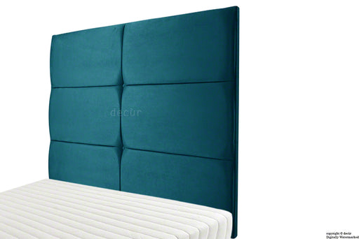 Bardi Wall High Velvet Headboard - Peacock