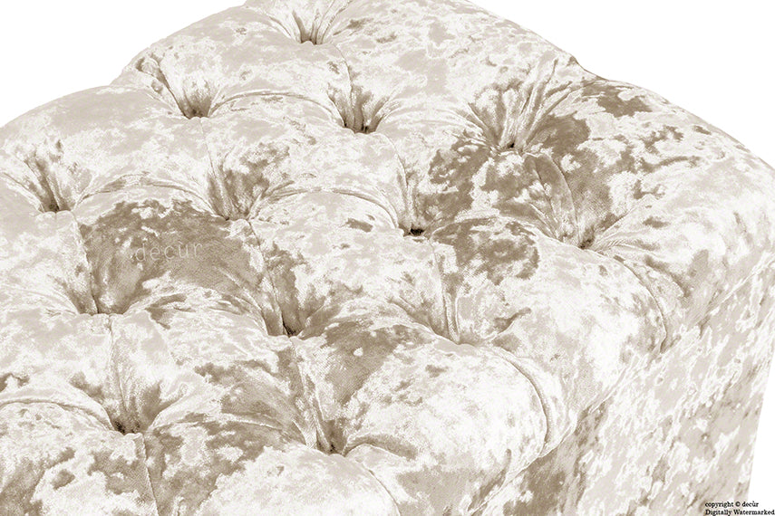 Viscount Crushed Velvet Ottoman - Vapour