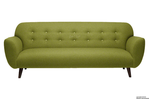 The Tomas Linen Sofa - Olive