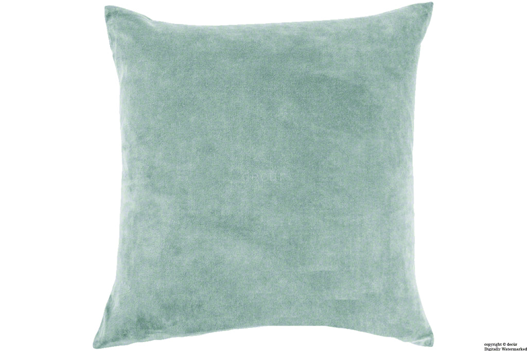Malvern Velvet Cushion - Seaspray