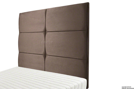 Bardi Wall High Velvet Headboard - Mushroom