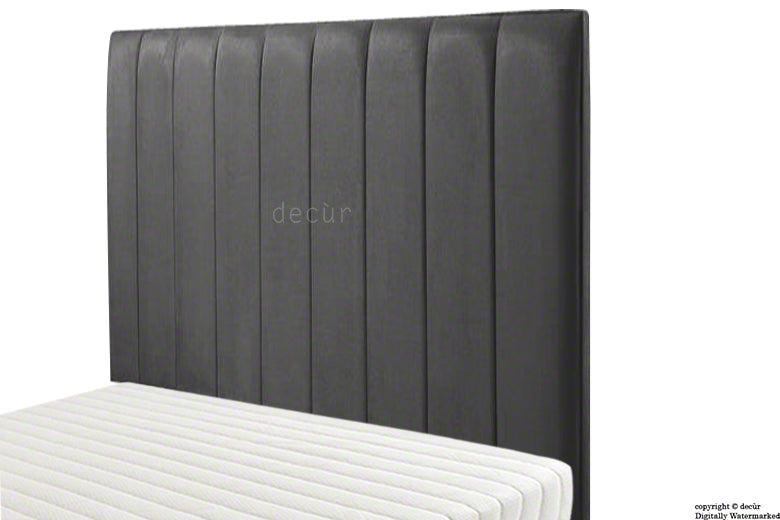 Petra Headboard Faux Suede - Black