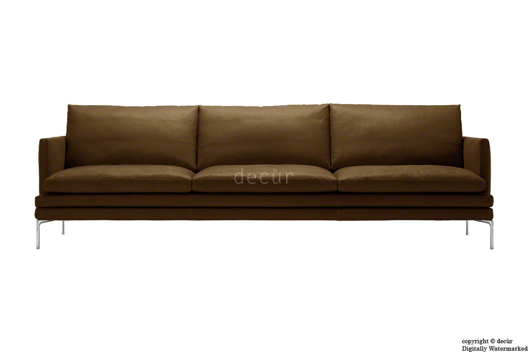 Notting Hill Leather Sofa - Chocolate