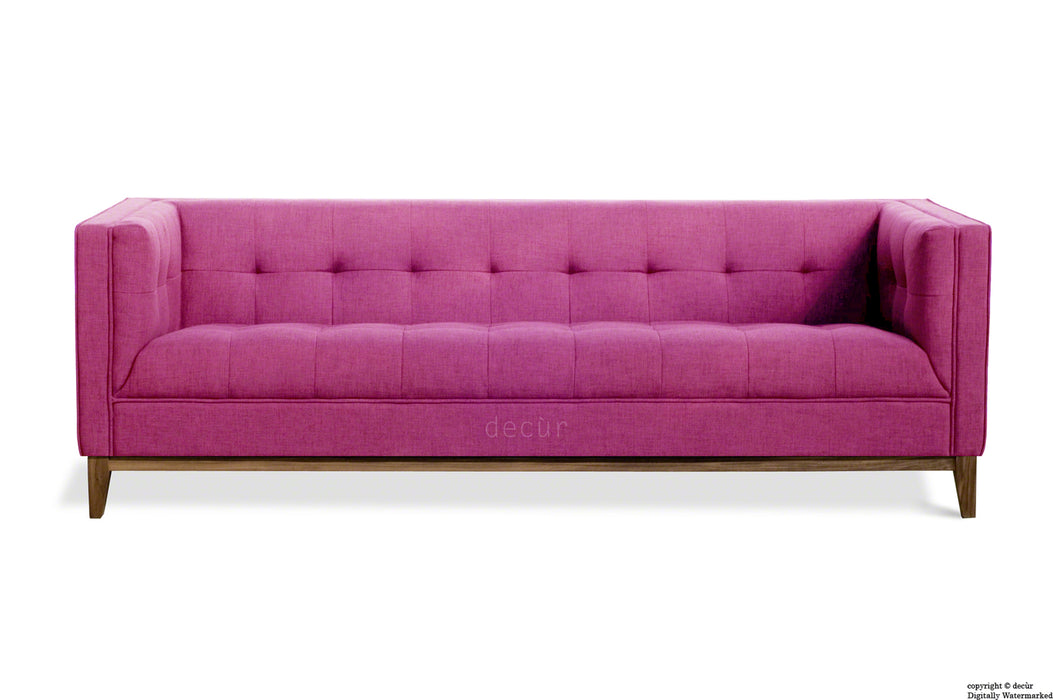 The Fifty Nine Linen Sofa - Fuchsia