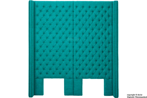 Beauchamp Buttoned Courtyard Linen Headboard Teal