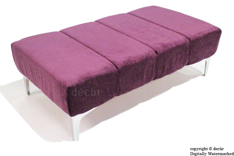 Abi Footstool - Aubergine with Optional Storage
