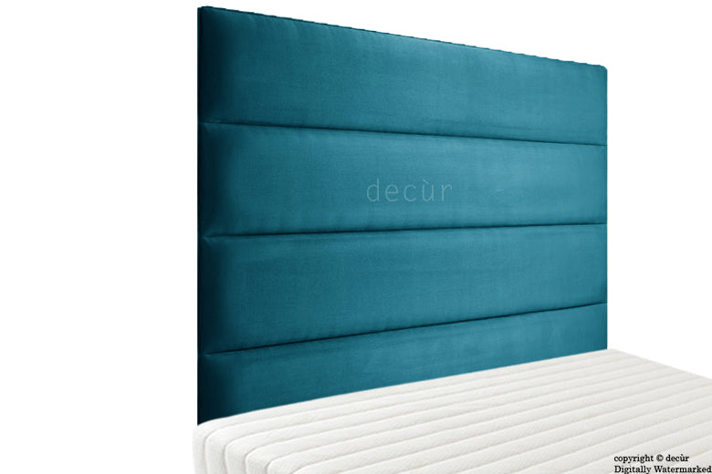 Boston Velvet Headboard - Peacock