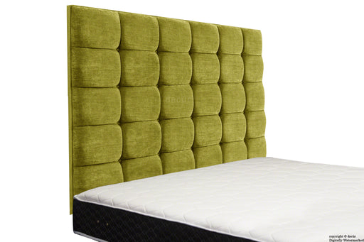 Grace Mila High Buttoned Wall Headboard - Olive Lime