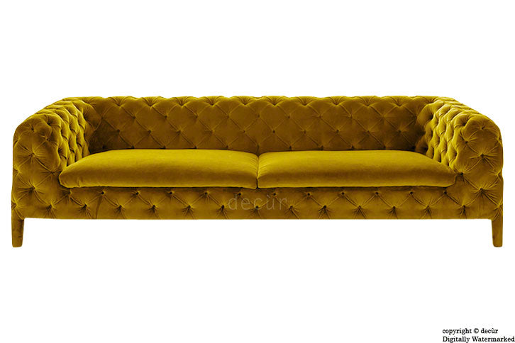 Rochester Chesterfield Velvet Sofa - Gold