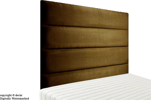 Boston Faux Suede Headboard - Dark Brown
