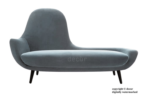 Modern Chaise Lounge - Platinum