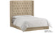 Balmoral Linen Upholstered Winged Bed - Honey