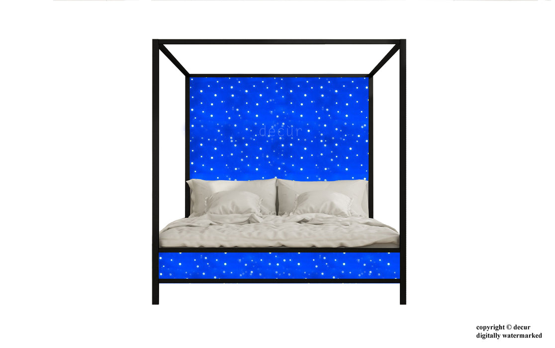 Four Poster Bed With Led Mood Lighting