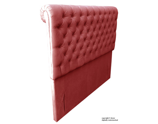 Empress Sleigh Velvet Headboard - Red