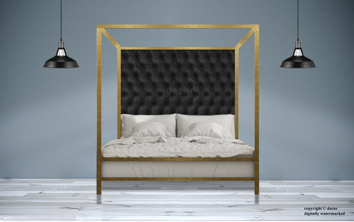 Gold Four Poster Bed - 24 Carat Gold Leaf