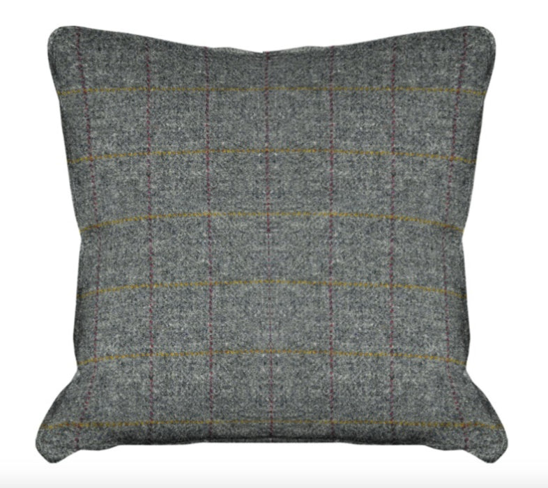 Harris Tweed Huntsman Check Cushion - Slate Grey