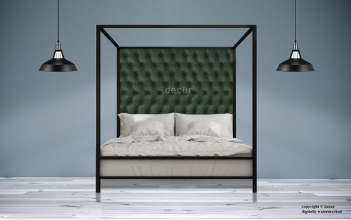 Leather-Four-Poster-Bed-Green