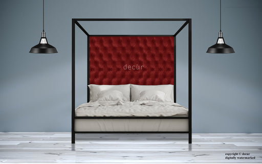 Leather-Four-Poster-Bed-Red
