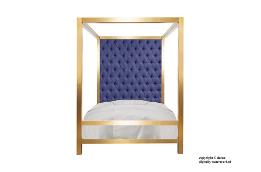 London Four Poster Bed - In Brass or Nickel