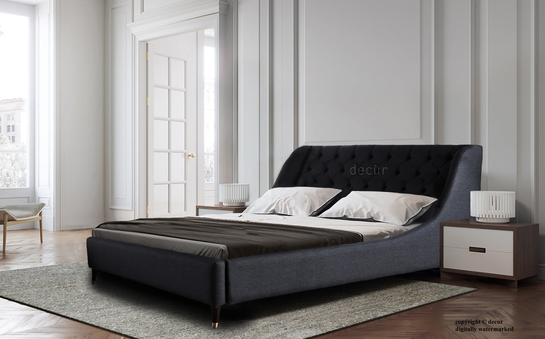Scandinavian Upholstered Bed