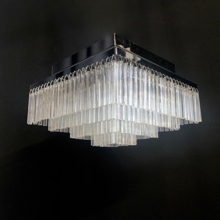 Art Deco Square Glass Chandelier 40 cm Square