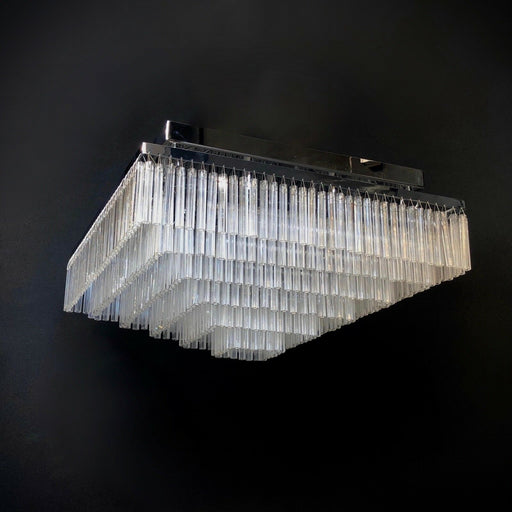 Art Deco Square Glass Chandelier 60 cm Square