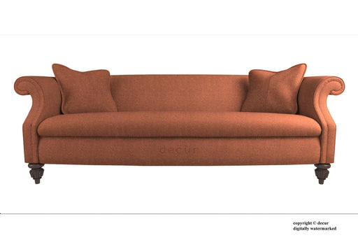 William Harris Tweed Herringbone Sofa - Burnt Umber