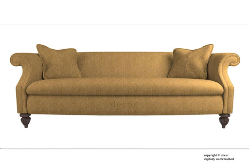William Harris Tweed Herringbone Sofa - Winter Wheat