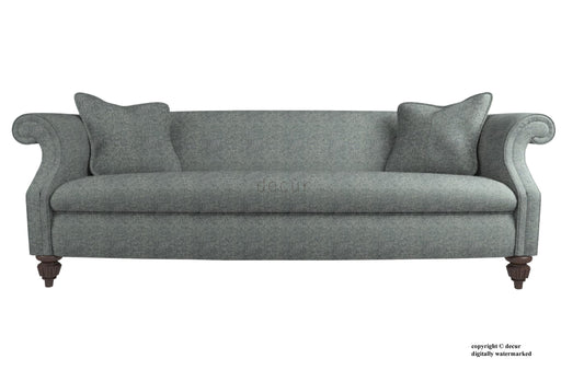 William Harris Tweed Herringbone Sofa - Slate