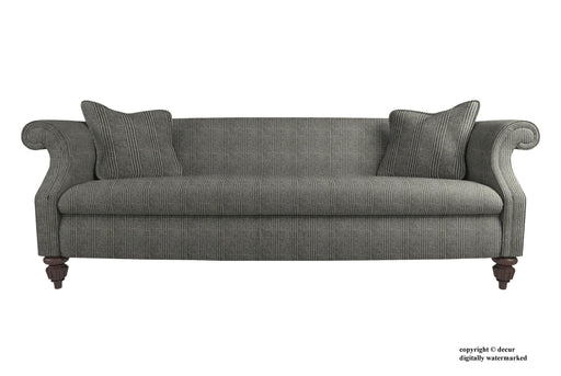 William Pendle Tweed Check Sofa - Charcoal