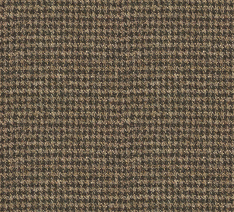 Malcolm Campbell Harris Tweed Wolf Tooth Fabric - Atlantic Crag Grey