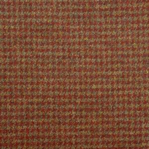 Harris Tweed Houndstooth Fabric - Burnt Umber