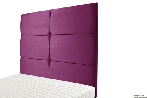Bardi Wall High Velvet Headboard - Boysenberry