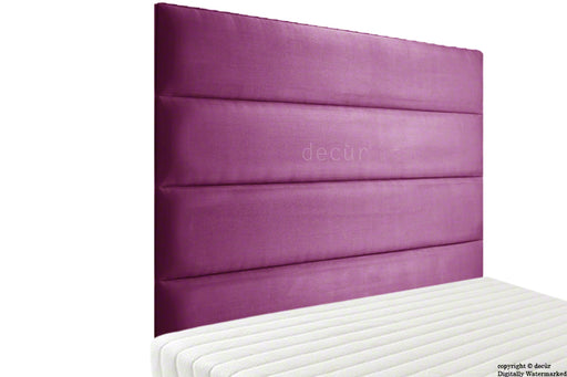 Boston Velvet Headboard - Boysenberry
