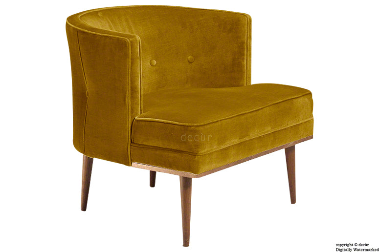 Tomas Scandinavian Velvet Arm Chair - Gold