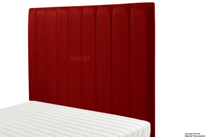 Petra Velvet Headboard - Red