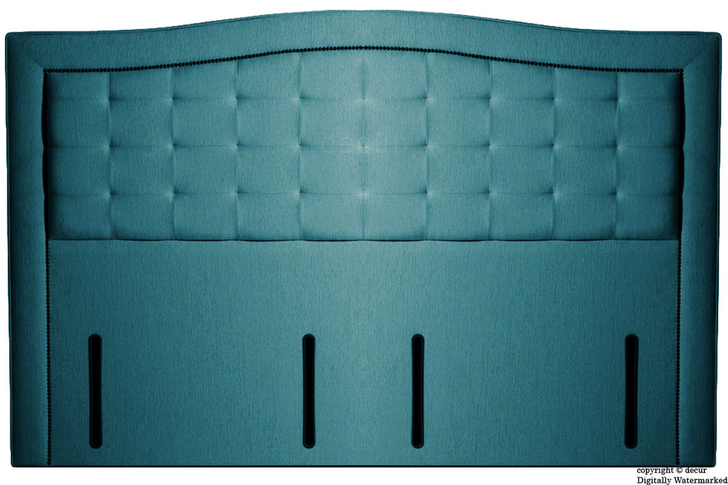 Paris Buttoned Chenille Headboard - Teal