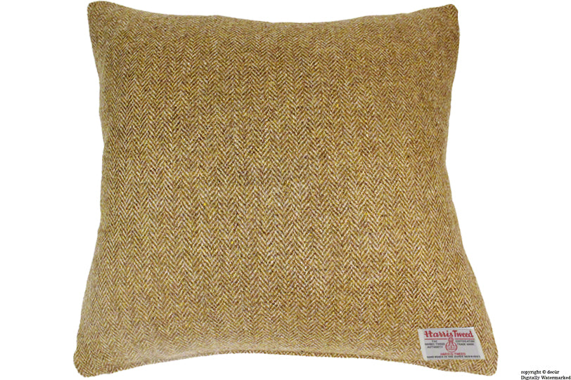 Harris Tweed Herringbone Cushion - Winter Wheat 55 CM