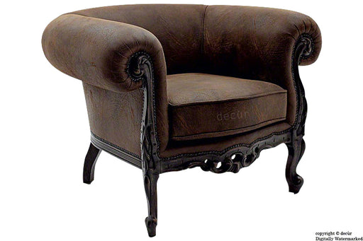Baroque Arm Chair - Brown