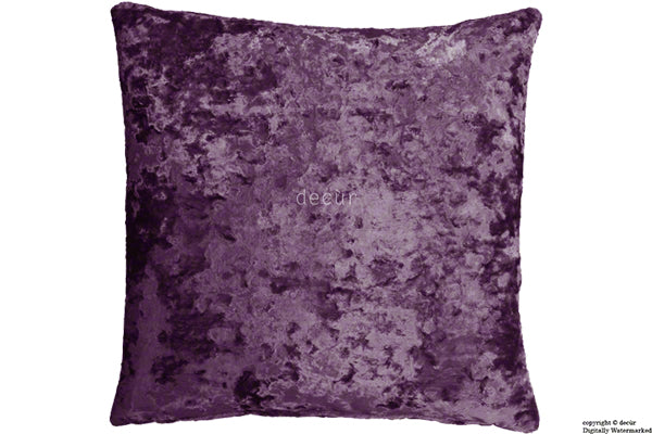 London Crushed Velvet Cushion - Amethyst