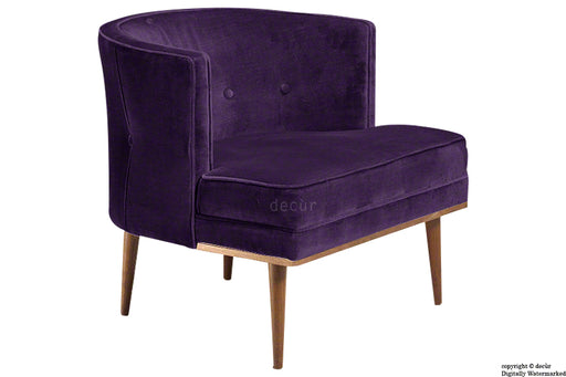 Tomas Scandinavian Velvet Arm Chair - Amethyst