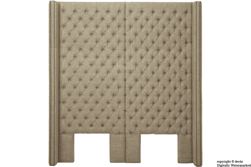 Beauchamp Buttoned Courtyard Linen Headboard Fudge