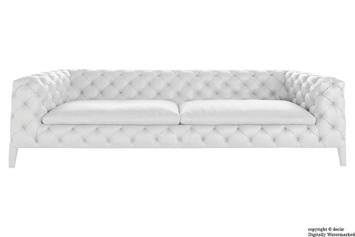Rochester Leather Chesterfield Sofa - Soft Linen