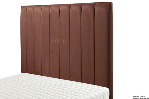 Petra Headboard Faux Suede - Dark Brown