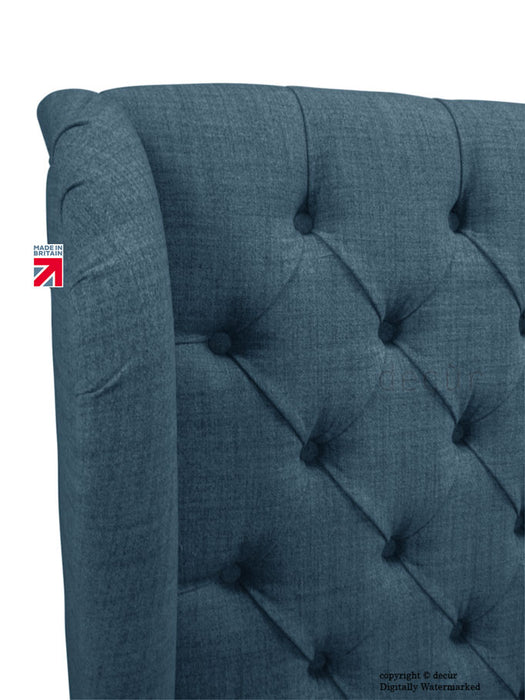 Chelsea Wing Headboard - Navy