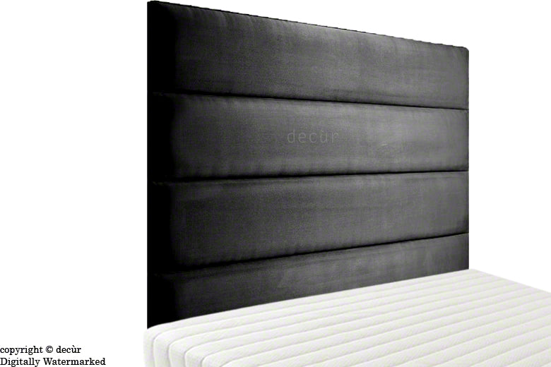 Boston Faux Suede Headboard - Black
